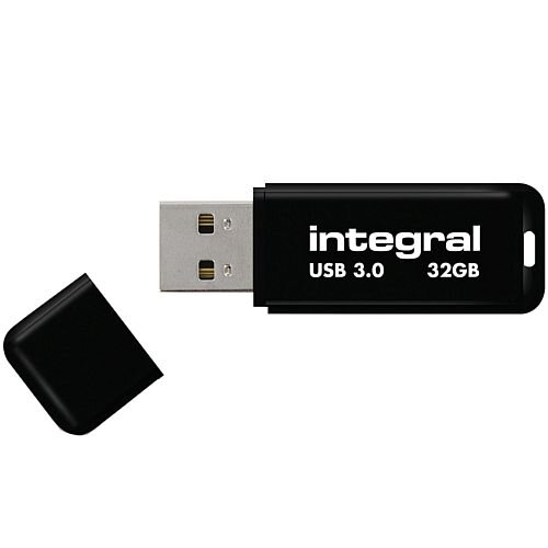 Integral Black Noir USB 3.0 Memory Stick 32GB