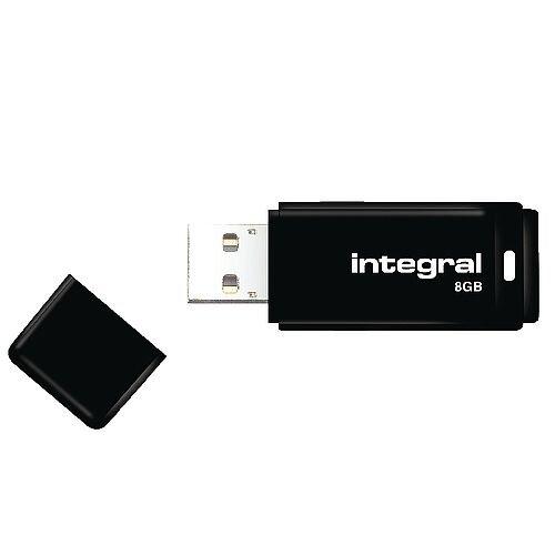 Integral Black USB 2.0 Memory Stick 8GB