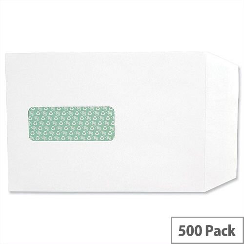 Basildon Bond Window C5 White 100gsm Envelopes Peel and Seal Pocket Pack 500 Ref J80119