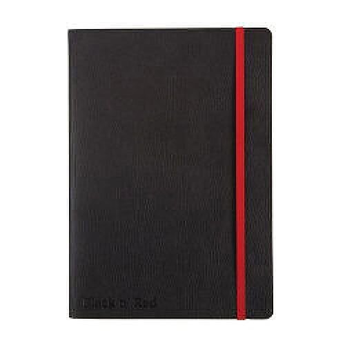 Black n' Red A5 Soft Cover Notebook Black
