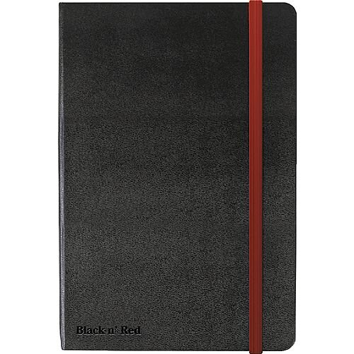 Black by Black n' Red Hard Cover A5 Notebook Black 400033673