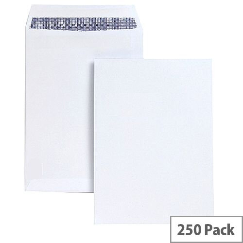 White Box C4 Envelope White Pocket Press Seal 100gsm (Pack of 250)