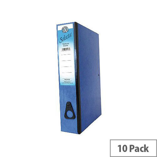 Concord IXL Selecta Box File Foolscap Blue 75mm Spine Pack of 10 264152
