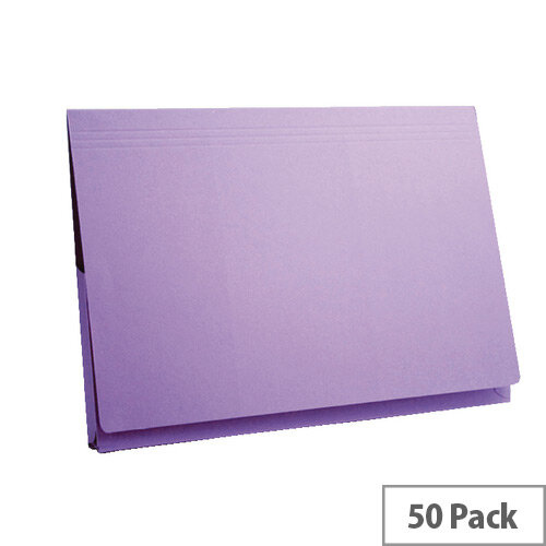 "Concord Mauve Document Wallet 14x10"" Pack of 50"