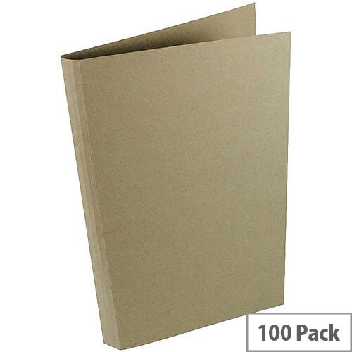 Concord Guildhall 290gsm Square Cut Folder Heavy-weight Foolscap Buff Pack of 100 44202