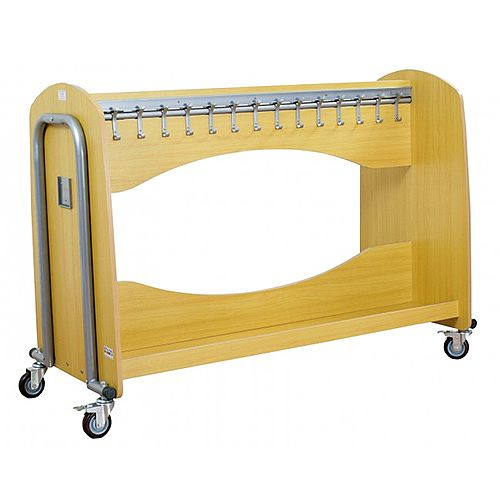 Wooden Classroom Cloakroom Trolley (stores 30 coats)