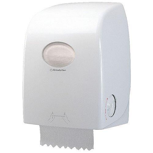 Kimberly Clark Aquarius White Rolled Hand Towel Dispenser 6959
