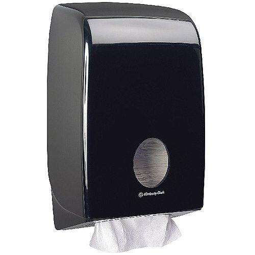 Kimberly Clark Aquarius Black Hand Towel Dispenser Black 7171