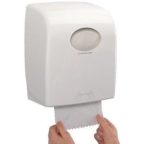 Kimberly-Clark Aquarius Slimroll Rolled Hand Towel Dispenser White 7955