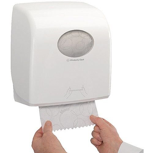 Kimberly-Clark Aquarius Rolled Hand Towel Dispenser White 7375