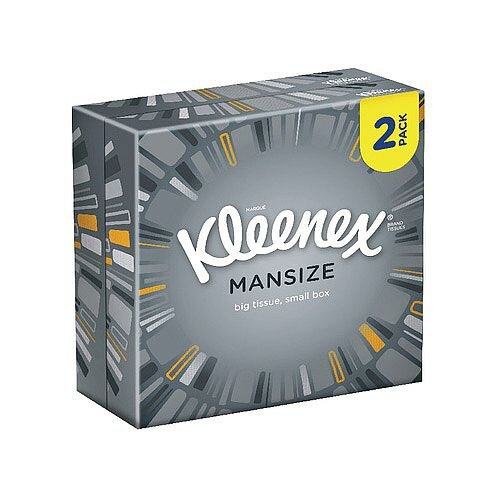 Kleenex Mansize Compact Box Facial Tissues 44 Per Pack (Pack 2) 3717916