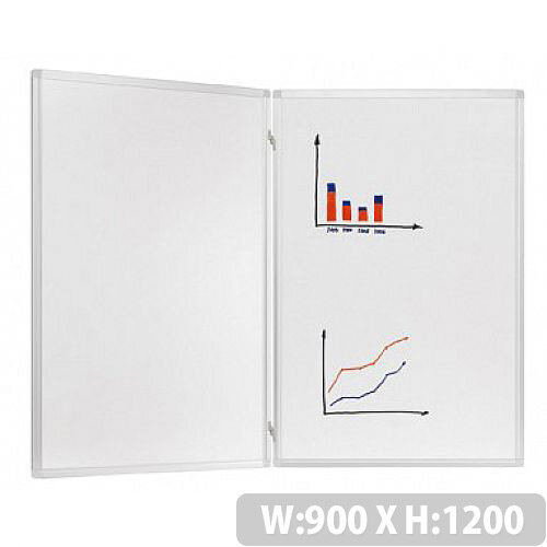 Franken Trio Lacquered Folding Whiteboard System 900 x 1200mm