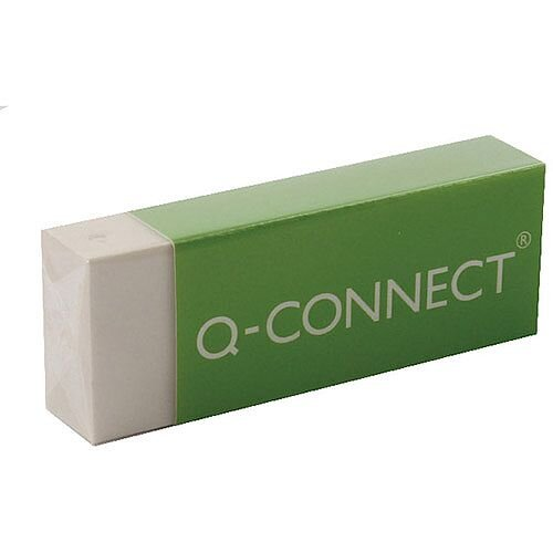 Q-Connect Eraser White PVC Pack 20