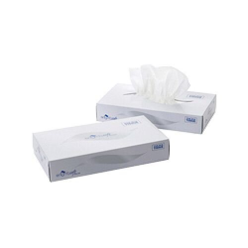 2 Ply White Facial Tissue Mansize 240 x 275mm 100 sheets (Pack of 24) MSF100
