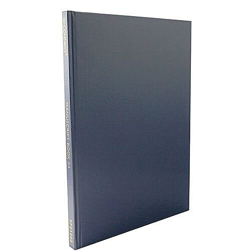 Q-Connect A4 Manuscript Book Ruled - 96 Pages Of Feint Ruled High Quality Paper Per Book. Hardback Covers To Protect The Contents From Damage. Ideal In Receptions, Offices, Schools, Colleges, Homes &More.