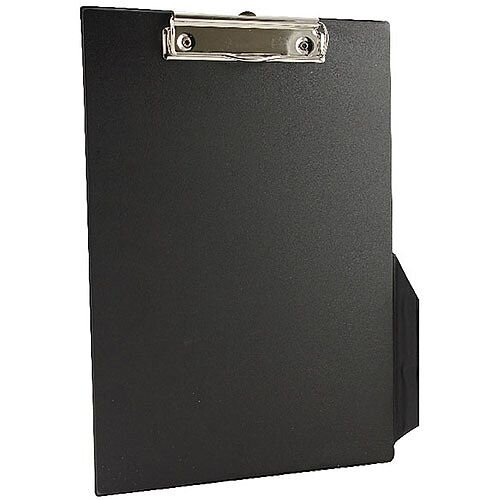 Q-Connect PVC Clipboard Single Black Foolscap/A4 KF01296