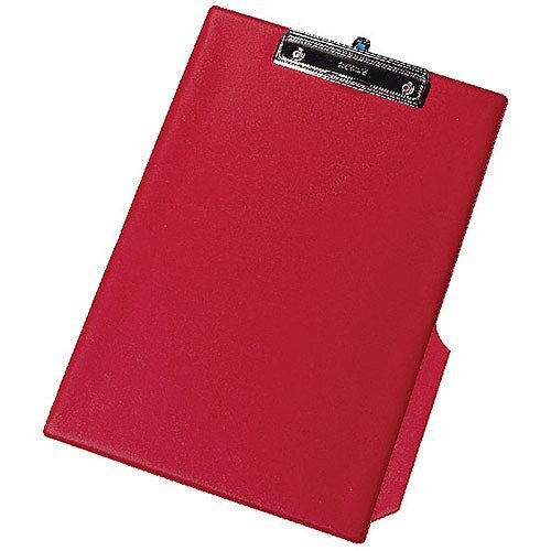 Q-Connect PVC Clipboard Single Red Foolscap/A4