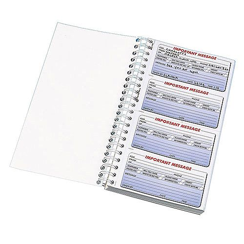 Q-Connect Telephone Message Book 400 Messages Duplicate