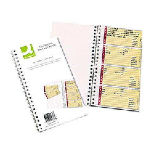 Q-Connect Telephone 320 Self-Stick Message Book