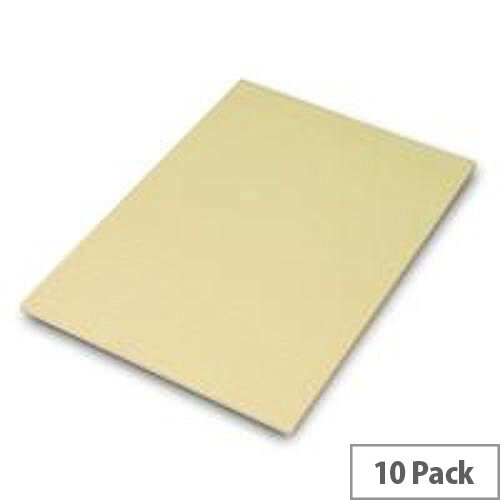 Q-Connect Memo Pad A4 Ruled Feint 60 Leaf Yellow Pack of 10