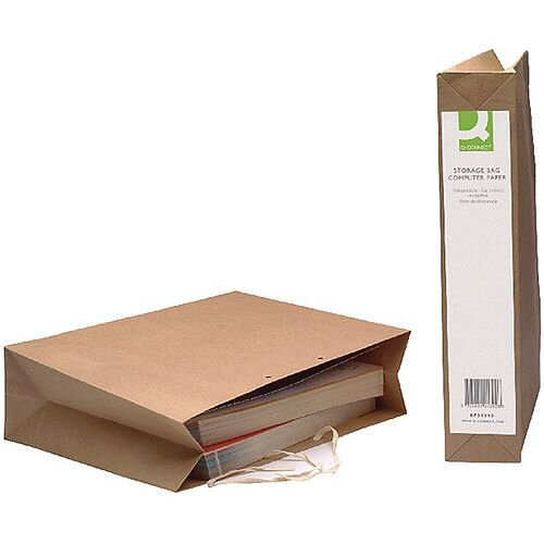 Q-Connect Computer Paper Storage Bag 75x293x384mm 25 Pack
