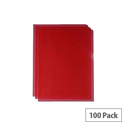 Q-Connect Cut Flush Folder A4 Pack of 100 Red