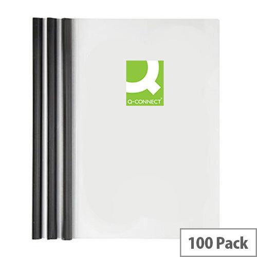 Q-Connect A4 5mm Slide Binder/Cover Set Black Pack of 100 KF01940