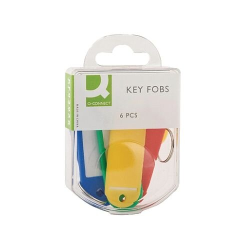 Q-Connect Key Fobs Assorted Pack of 6