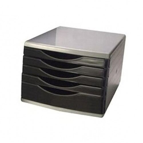 Q-Connect 5 Drawers Tower Black/Grey KF02253
