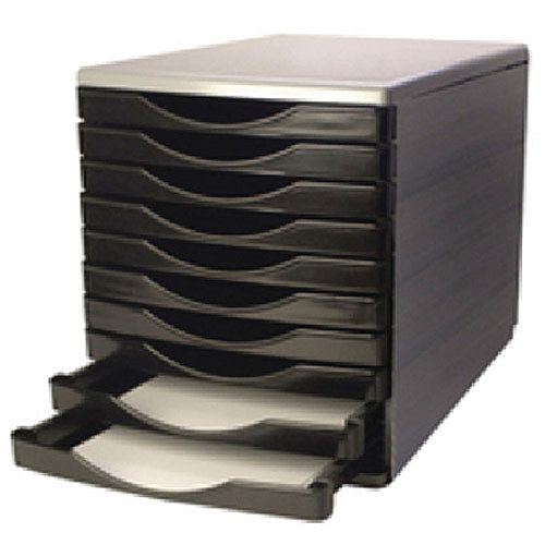 Q-Connect 10 Drawers Tower Black/Grey