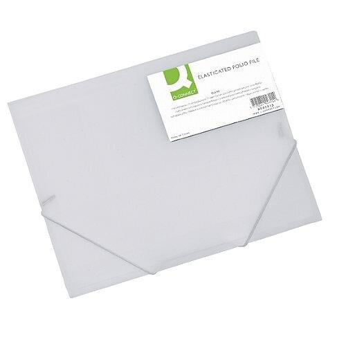 Elasticated Folio A4 Clear Q-Connect