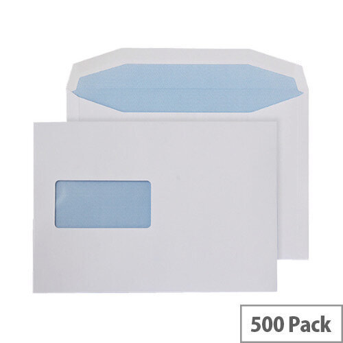 Q-Connect Machine Wallet Envelopes 162x238mm Window 90gsm Gummed White Pack of 500