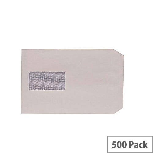 Q-Connect Envelopes C5 100gsm Window Peel and Seal White Pack of 500 1P53