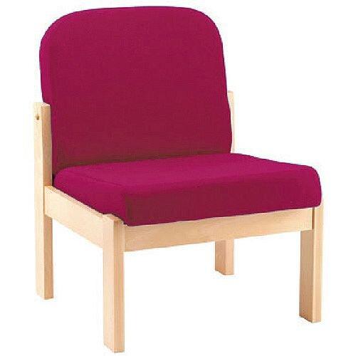 Arista Reception Wooden Frame Chair Claret KF03324