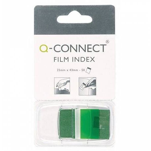 Q-Connect Page Marker 1 inch Pack of 50 Green KF03635