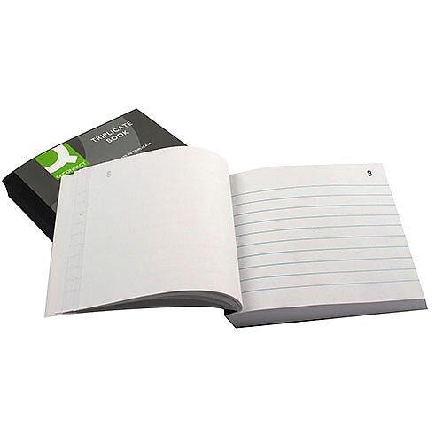 Q-Connect Triplicate Book 4x5 inches Ruled Feint
