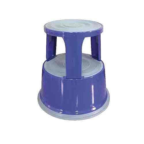 Q-Connect Steel Mobile Kick Step Stool Blue