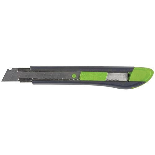 Q-Connect Heavy Duty Box Cutter 18mm - Slit for snapping off blunt blades - Replacement blades are easy to insert - Heavy duty for industrious use