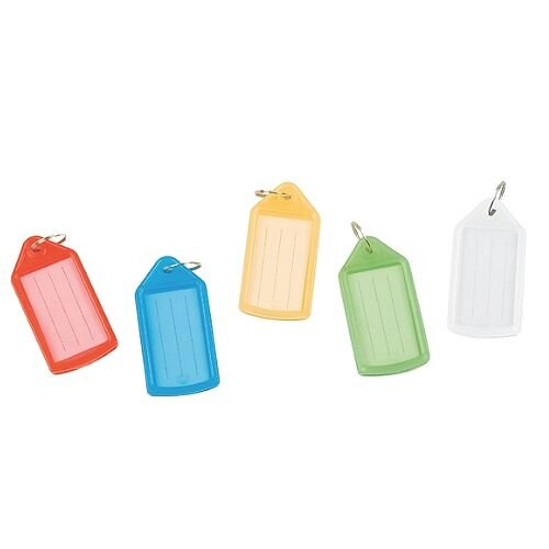 Q-Connect Sliding Key Fob Medium Assorted Pack of 40