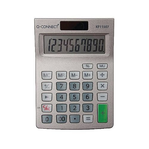 Q-Connect Semi-Desktop 10-Digit Calculator KF11057