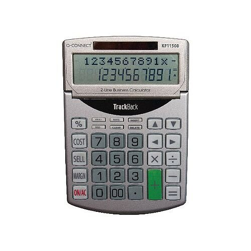Q-Connect Semi-Desktop 12 Digit-Calculator KF11508