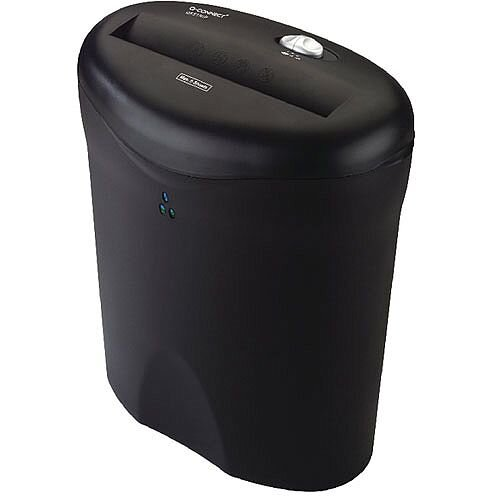 Q-Connect Deskside Paper Shredder Strip-Cut With 9 Litre Waste Bin Sec. Level 2 - Ideal in the home or office as deskside shredder. 9 litre waste bin. Reverse function and overheating protection.