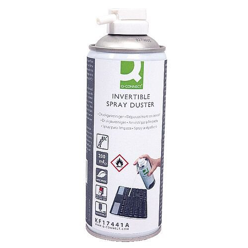 Q-Connect HFC Free Air Duster 200ml Pack of 1 - Perfect for keyboards, cameras and difficult to reach areas - Ozone friendly pressure duster