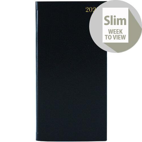 Portrait Slim Diary Week to View 2020 Black KF1BK20