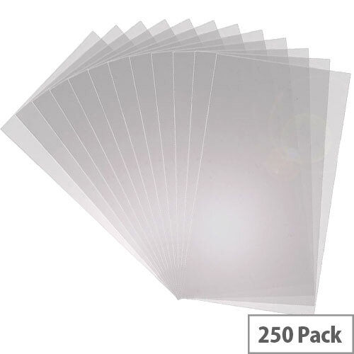 Q-Connect Binding Comb Covers 150micron Clear A4 Pack of 250