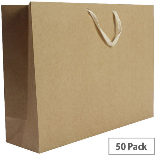 Q-Connect Storage Bag Foolscap 100x255x350mm 50 Pack