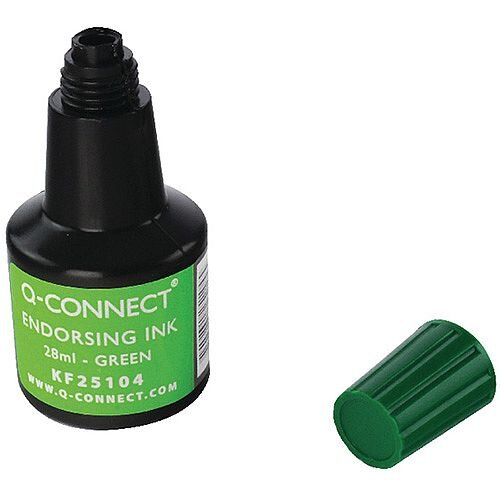 Q-Connect Endorsing Ink 28ml Green Pack of 10 KF25104Q