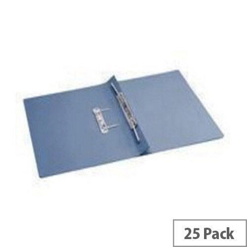 Q-Connect Transfer File Foolscap/A4 35mm Capacity Blue Pack 25