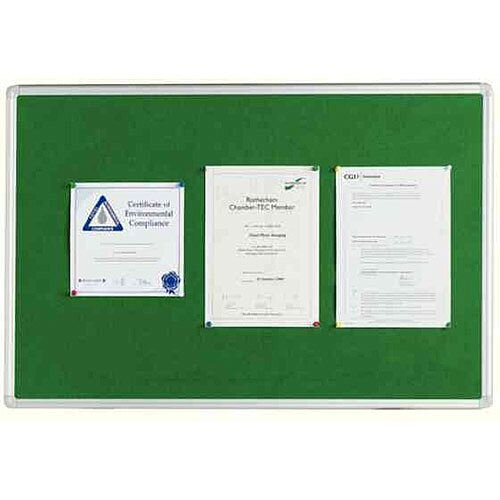 Q Connect Notice Board 1800 x 1200mm Aluminium Frame Green