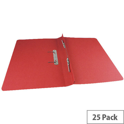 Q-Connect Transfer File Foolscap/A4 35mm Capacity Red Pack 25